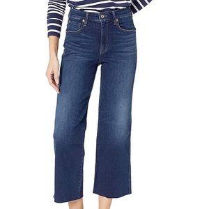 Ella Moss Vivien Cropped High Waist Wide Leg Jeans